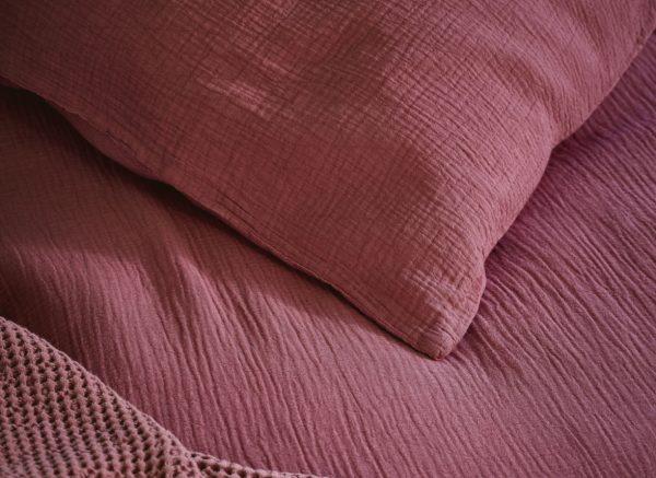 Marc O'Polo dekbedovertrek Kuva soft red