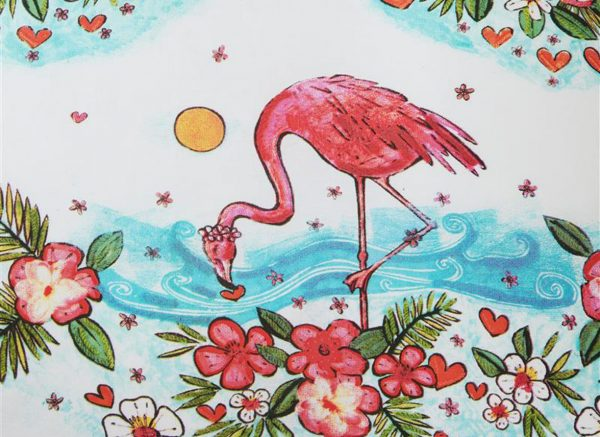 Beddinghouse dekbedovertrek Flamingo Flower pink
