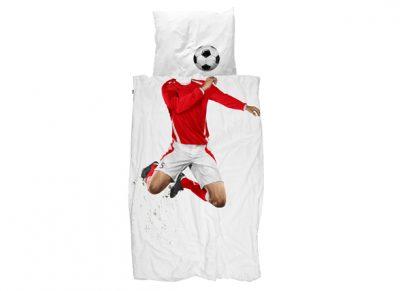 Snurk dekbedovertrek Soccer Champ red