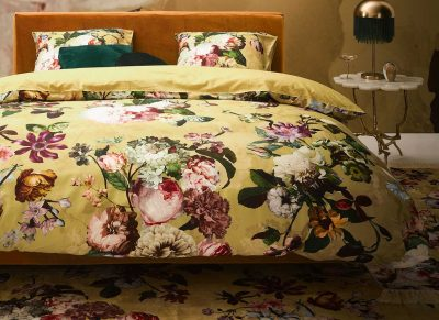 Essenza Home dekbedovertrek Fleur golden yellow