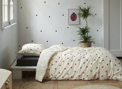 Covers & Co dekbedovertrek Ladybugs soft yellow