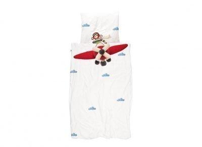 Snurk dekbedovertrek Airplane Monkey