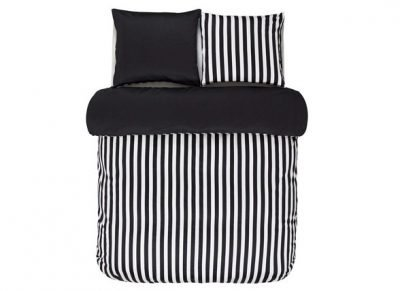 Marc O'Polo dekbedovertrek Classic Stripe black