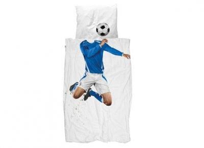 Snurk dekbedovertrek Soccer Champ blauw