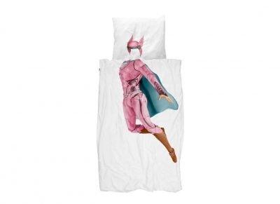 Snurk dekbedovertrek Super Hero pink