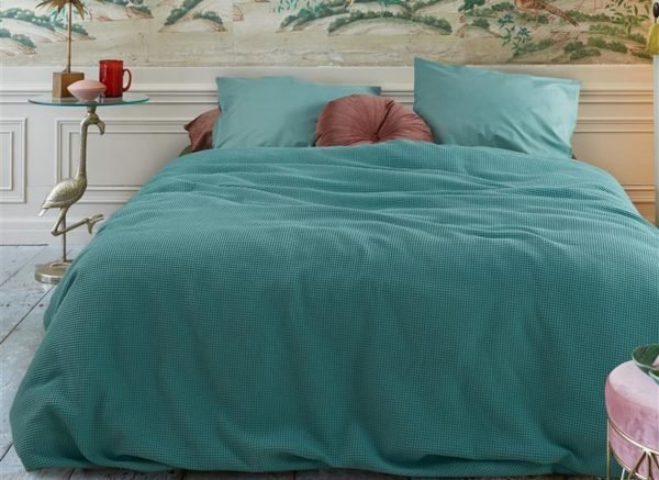 At Home dekbedovertrek Living blue