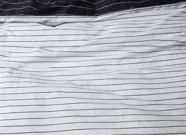At Home dekbedovertrek Notes black white