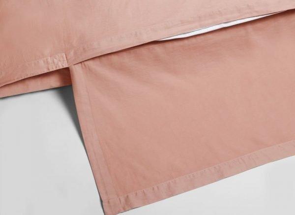 Yumeko dekbedovertrek washed katoen satijn pink