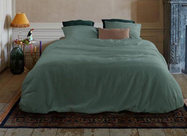 At Home dekbedovertrek Easy green