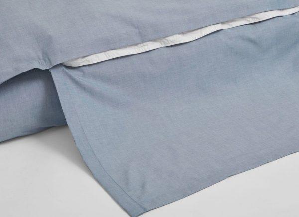 Yumeko dekbedovertrek katoen Tencel blue chambray