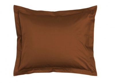 Essenza Home kussensloop katoen satijn, leather brown