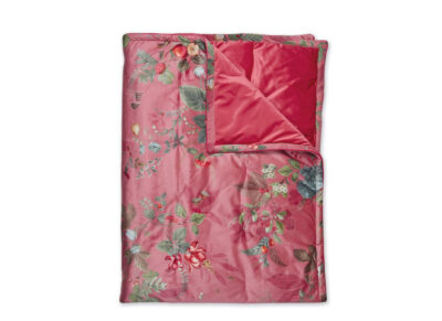 Pip Studio sprei Fall in Leaf velvet pink
