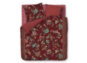 Pip Studio dekbedovertrek Poppy Stitch red