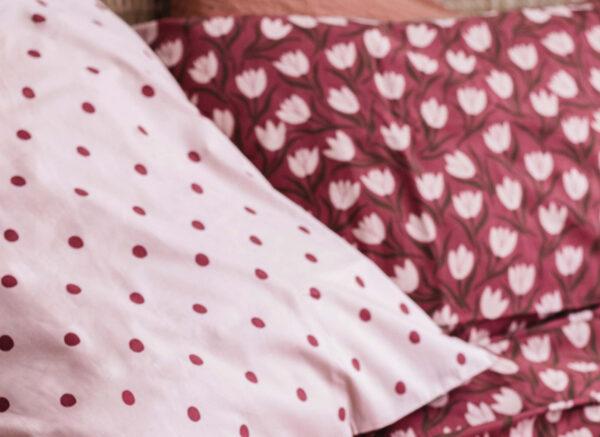 Covers&Co dekbedovertrek  Tulip Mania red