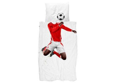 Snurk dekbedovertrek Soccer Champ dark red