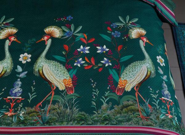 Pip Studio dekbedovertrek  Birds in a Row green
