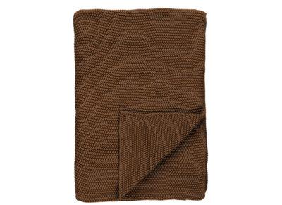 Marc 'O Polo plaid Nordic knit toffee brown